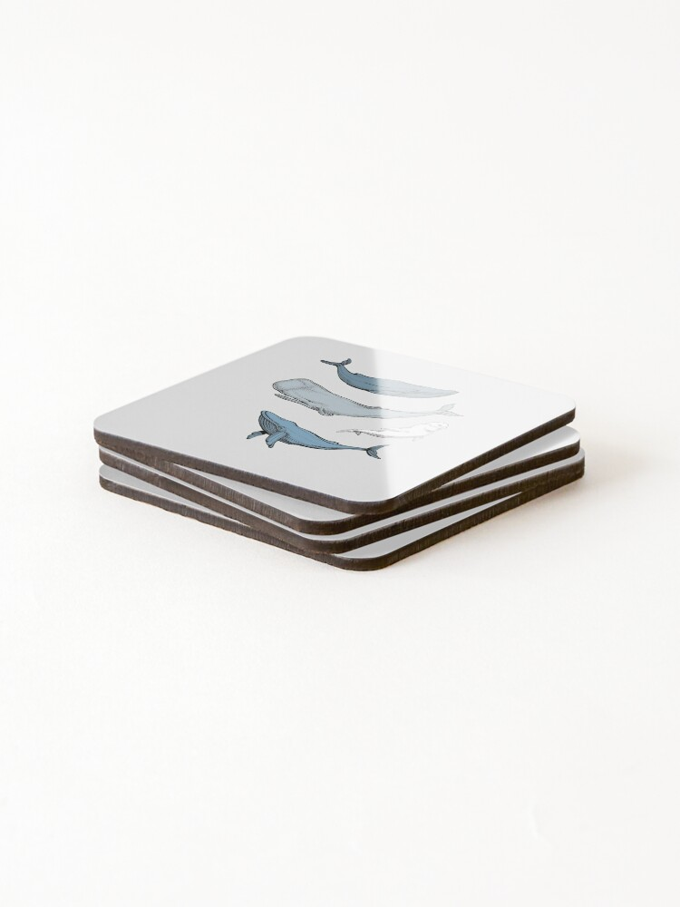 Alternate view of Whales are everywhere Coasters (Set of 4)
