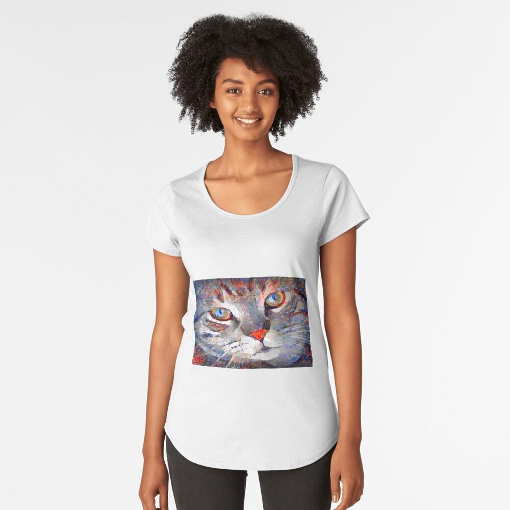 Gesichtsgesicht Premium Rundhals-Shirt