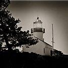 Cabrillo Light House in Black/White/Sepia by HeavenOnEarth