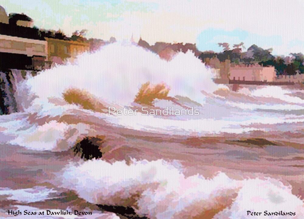 High Seas at Dawlish, Devon by Peter Sandilands