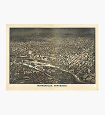 Aerial View of Minneapolis, Minnesota (1885) Photographic Print