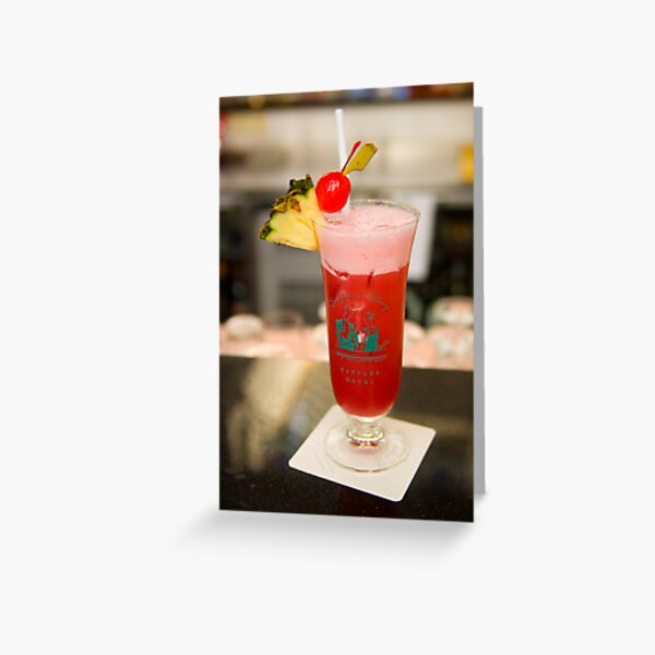The famous Singapore Sling Greeting Card