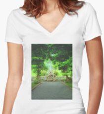 Bantry house gardens Women's Fitted V-Neck T-Shirt