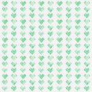 Watercolor Green Heart Pattern by Leah Flores