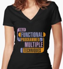 Fully Functional Women's Fitted V-Neck T-Shirt