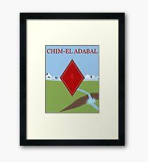 Red Diamond Framed Print