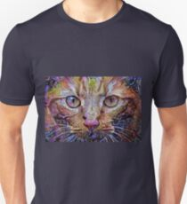 Psychedelic Orange Cat Unisex T-Shirt