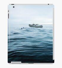 Dolphins in open sea iPad Case/Skin