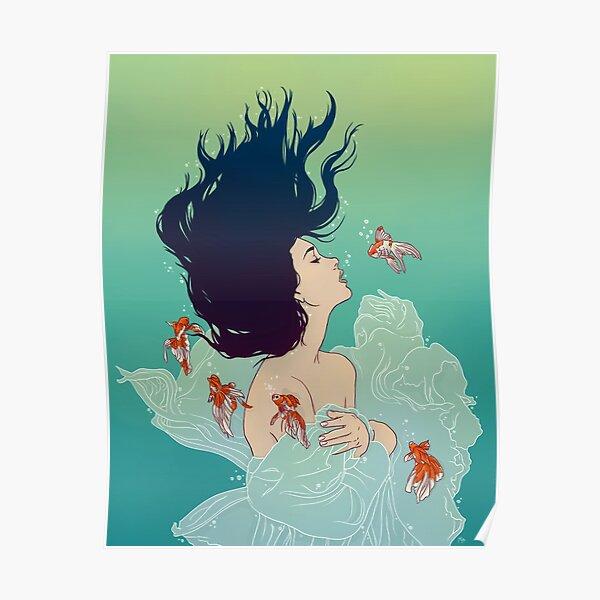Underwater Lady Poster