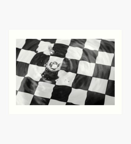 Chequered Droplets Art Print