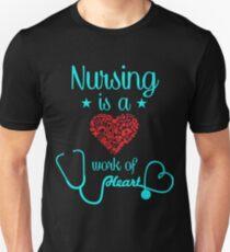 Krankenschwester Herz Unisex T-Shirt
