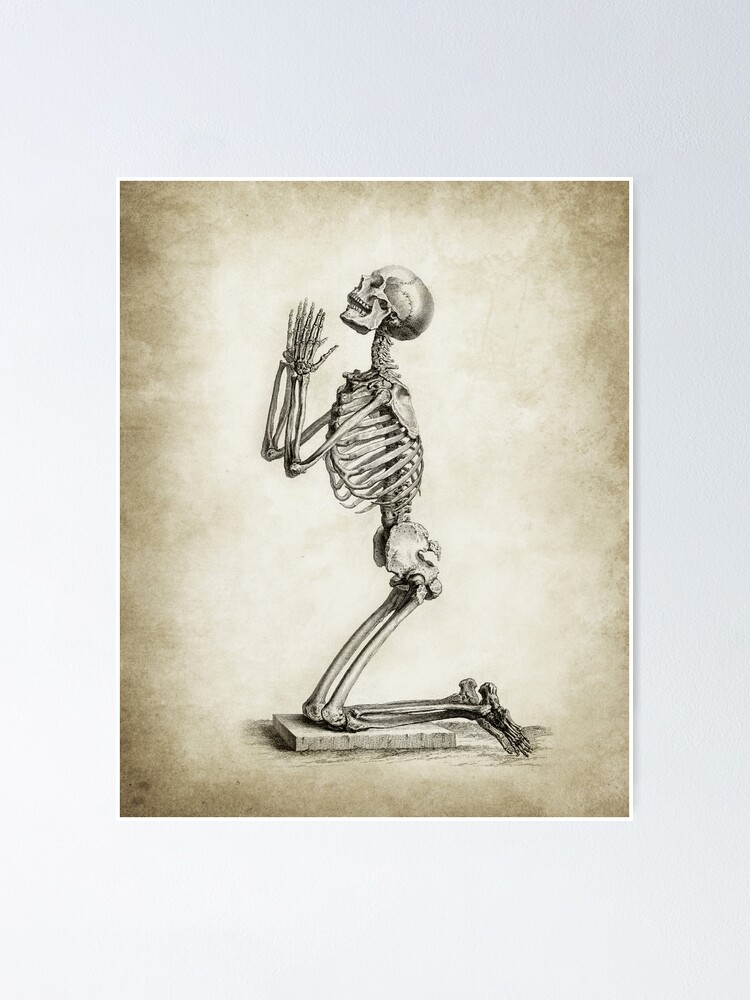Alternate view of Skeleton In Prayer  Poster