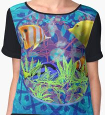 Fishy Mandala  Women's Chiffon Top