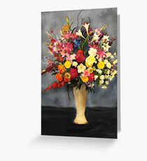 Floral Arrangement Painting Greeting Card
