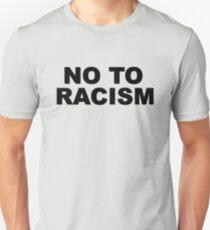 No To Racism Sport Football  T-Shirt