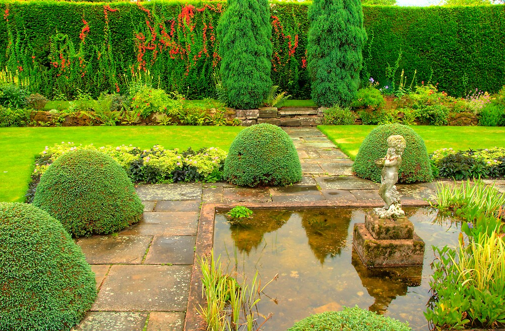 Arley Hall Sunken Garden by Charles Howarth