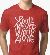 f672a346256 Liverpool FC - You'll Never Walk Alone YNWA Tri-blend T-Shirt