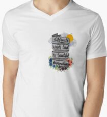 Difficult Roads Men's V-Neck T-Shirt