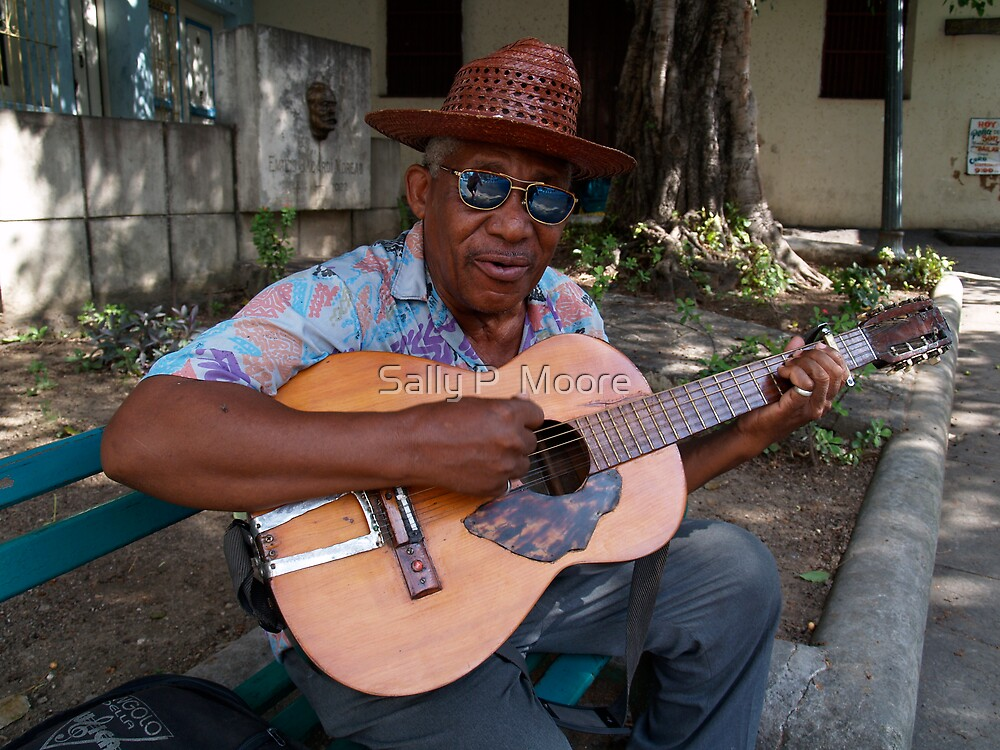 Guitar Man by Sally P  Moore