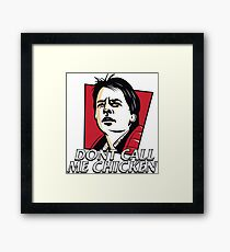 dont call me chicken Back to Future Framed Print