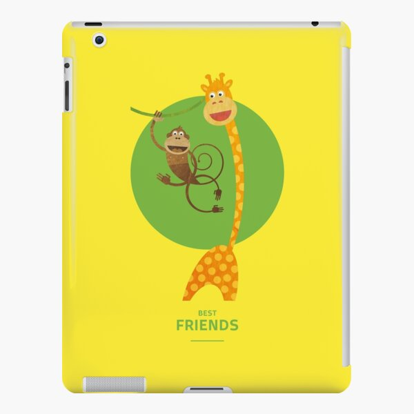 Illustration Kinderzimmer für Freunde – Giraffe und Affe iPad – Leichte Hülle