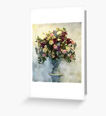 Classic Floral Arrangement Roman Greeting Card