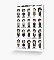 The Burkespotter's Guide (poster/card/notebook) Greeting Card