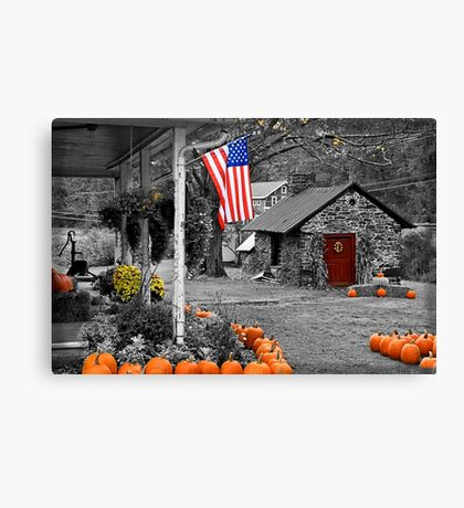 Rural America - Fall Harvest Canvas Print
