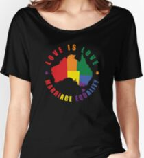 Love is Love Australia Women's Relaxed Fit T-Shirt