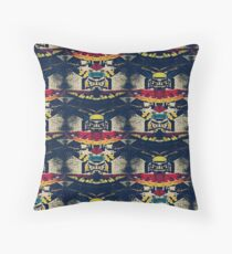Good Luck Totem Pole, Abstract Throw Pillow