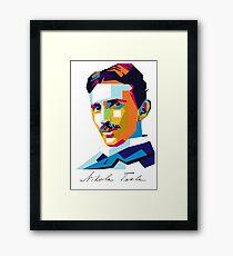 Nikola Tesla Inventor Genius Framed Print