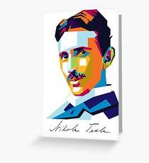 Nikola Tesla Inventor Genius Greeting Card