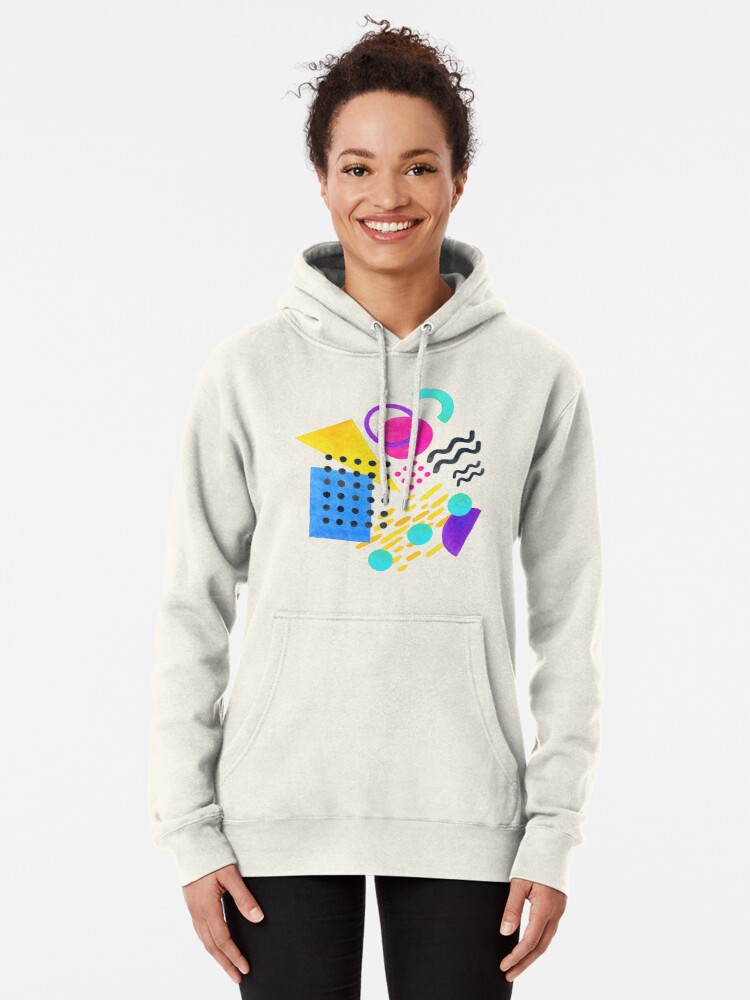 Alternate view of Memphis style Pullover Hoodie