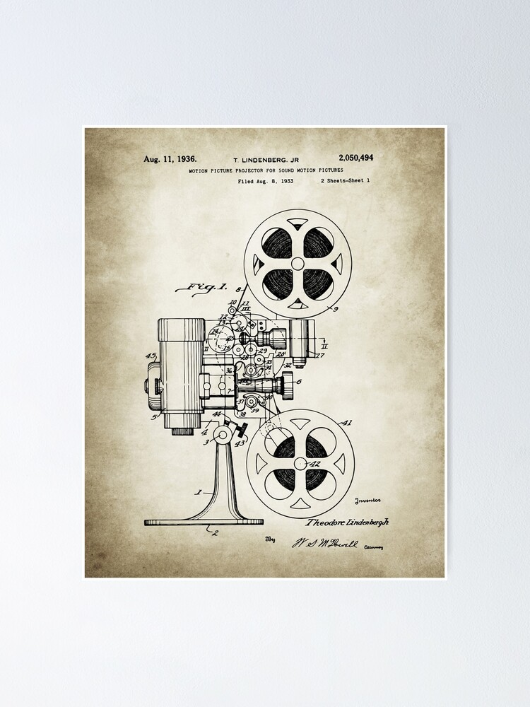 Alternate view of Movie Projector Poster