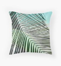 Transition: Greys Become Color Throw Pillow