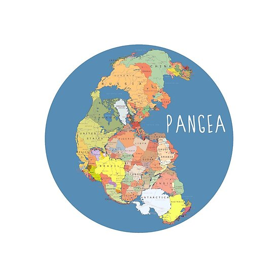 Quot Pangea Map Quot Poster By Akachayy Redbubble