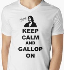 Keep Calm and Gallop On - Miranda Hart [Unofficial] Men's V-Neck T-Shirt