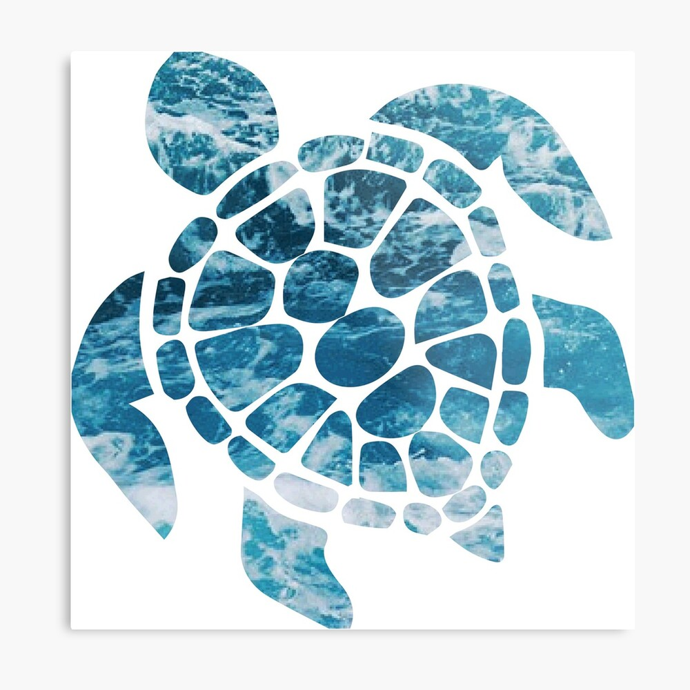 Ocean Sea Turtle Metal Print