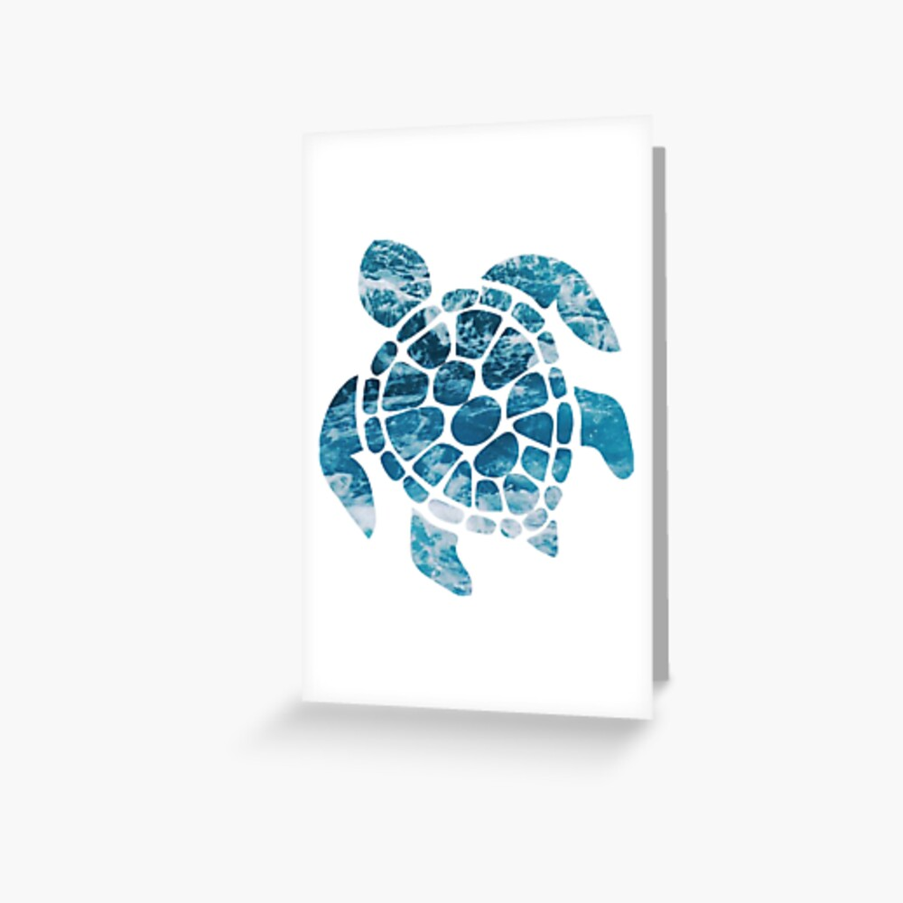 Ocean Sea Turtle Greeting Card