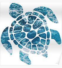 Ocean Sea Turtle Poster