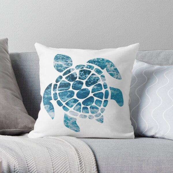 Ocean Sea Turtle Throw Pillow