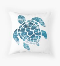 Ocean Sea Turtle Throw Pillow