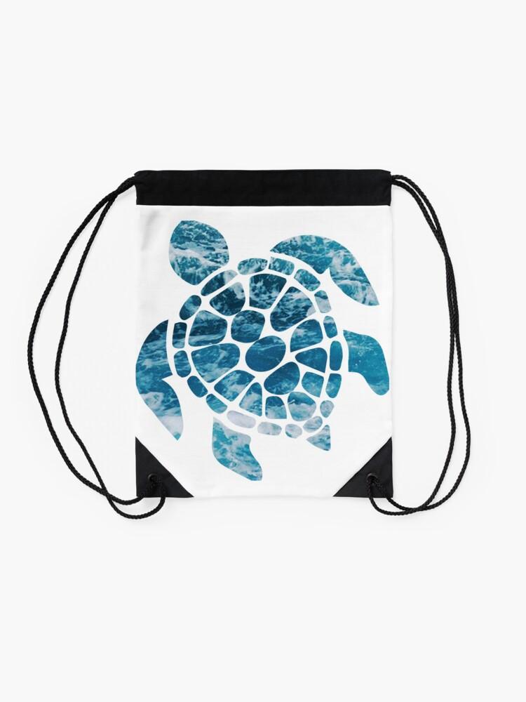 Alternate view of Ocean Sea Turtle Drawstring Bag