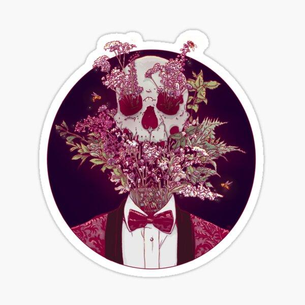 Skull Blossom Sticker