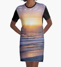Atlantic ocean waves at sunrise Graphic T-Shirt Dress