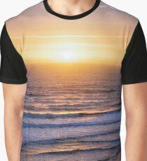 Atlantic ocean waves at sunrise Graphic T-Shirt