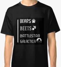 The Office - Bears, Beets, Battlestar Galactica Quote Jim/Dwight Classic T-Shirt