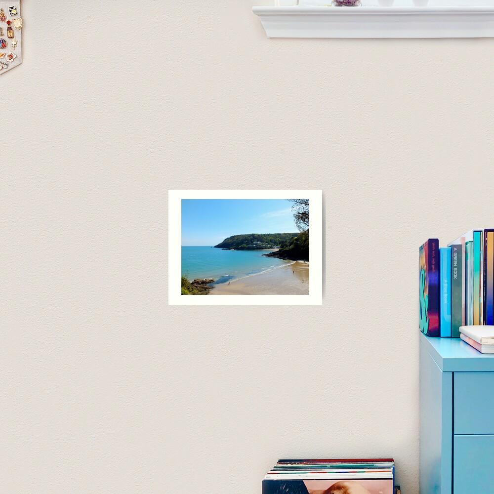 North Sands Beach, Salcombe Art Print