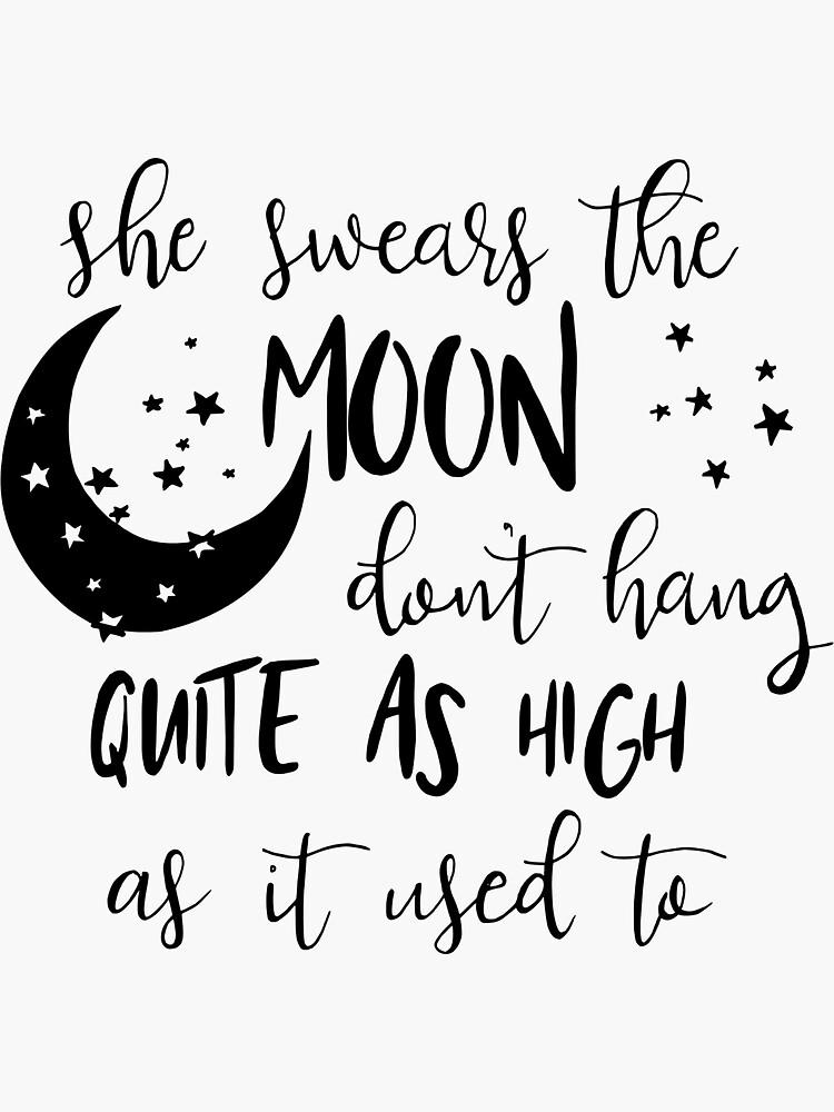 Jura que la luna no cuelga tan alto como solía de ThePreppyPagans