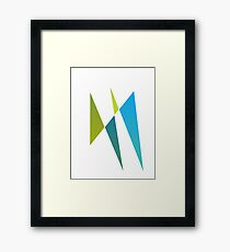 Blue and Yellow Design Framed Print